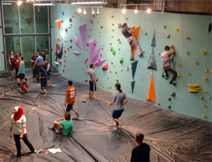 Austin Bouldering Project Training Room