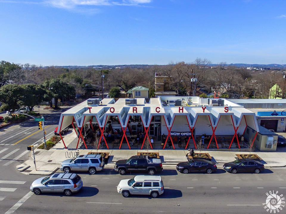 Aerial Torchy's Tacos Austin