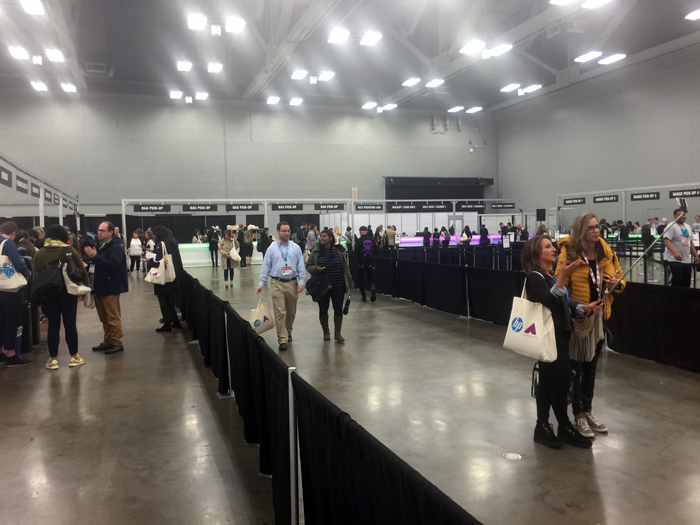SXSW Badget Pickup at Austin Convention Center