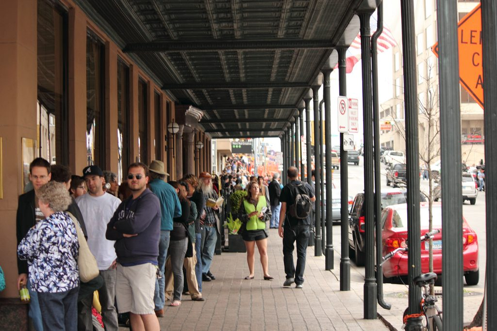 Paramount Theatre Line During SXSW Film