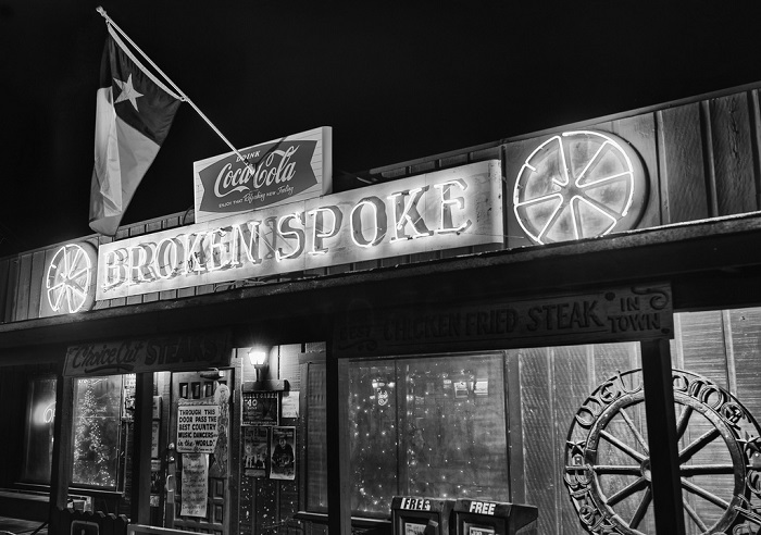 Broken Spoke at Night