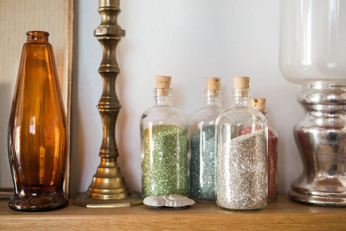 Bottles of Glitter CRAFT Room in Austin