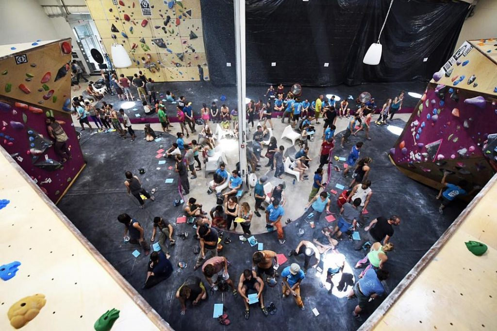 Setter Showdown Crowd at Crux Climbing Center