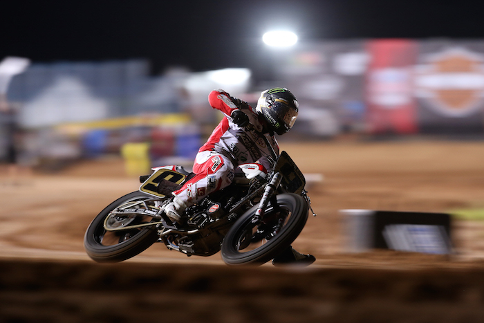 Jared Mees competing in Harley-Davidson Flat-Track Racing during X Games Austin 2016
