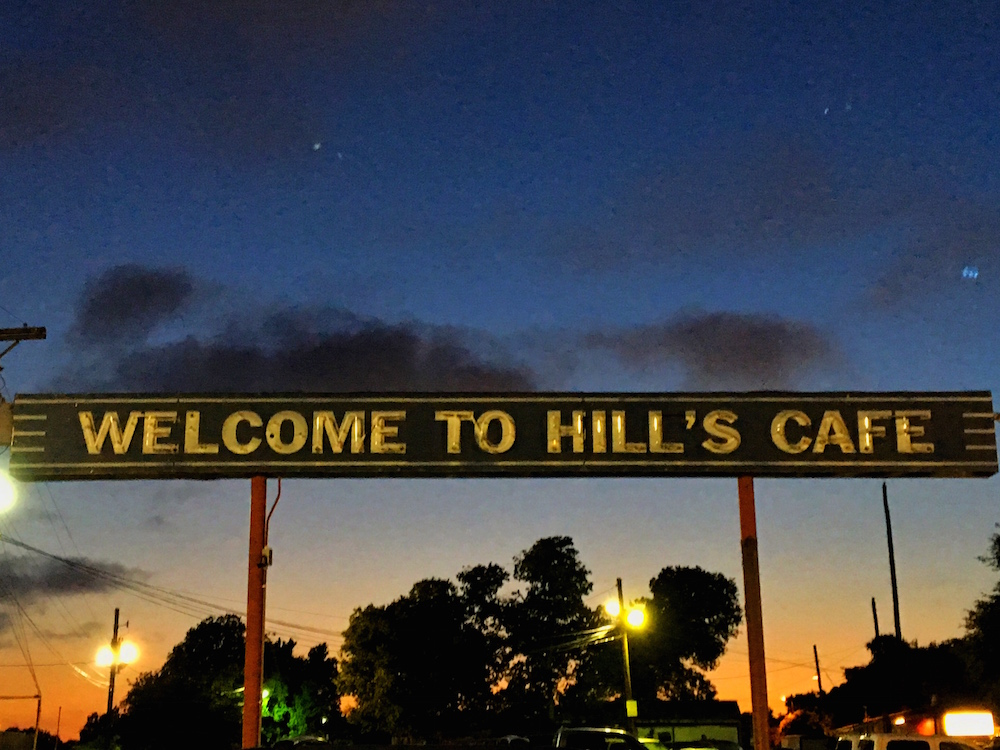 Hill's Cafe Sign South Austin