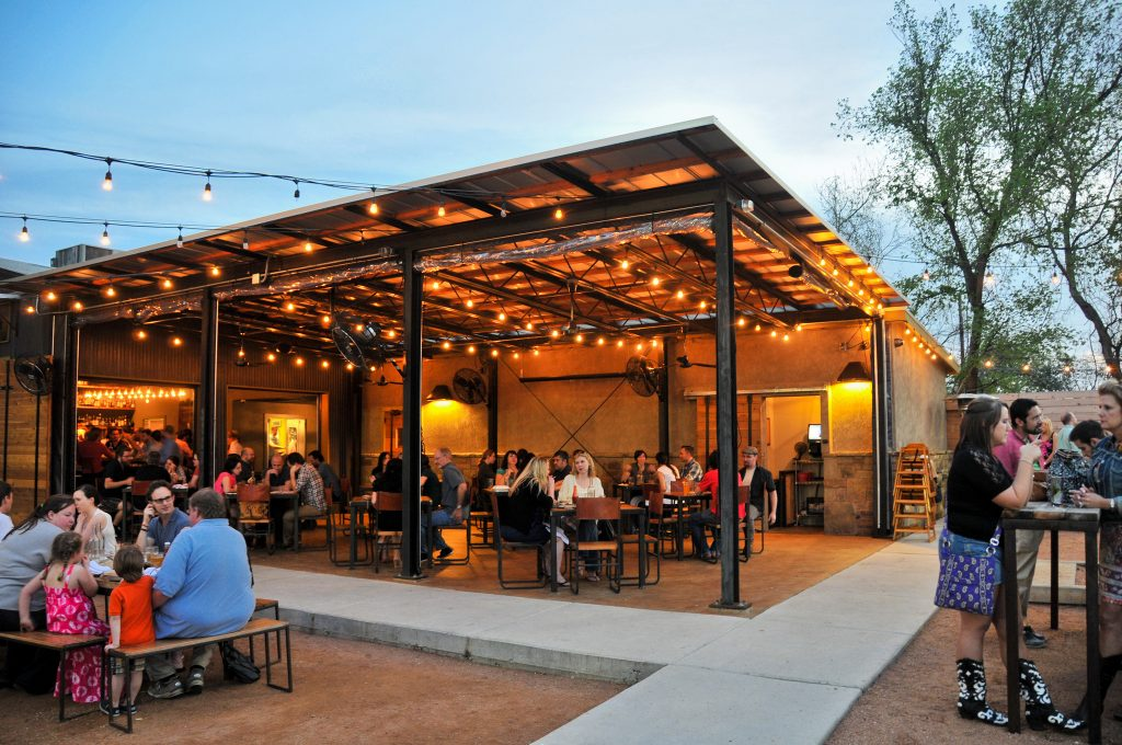 contigos dog friendly patio in austin - Restaurant Patio