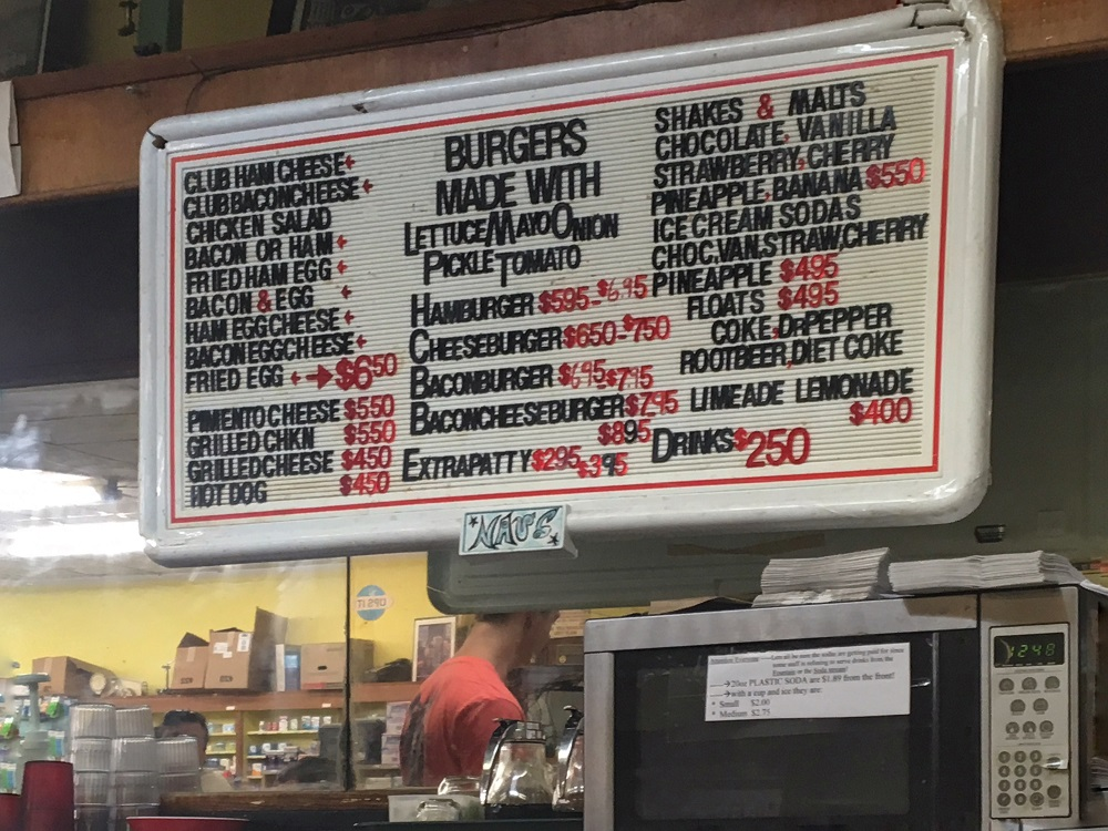 Nau's Enfield Drug Menu in Austin TX