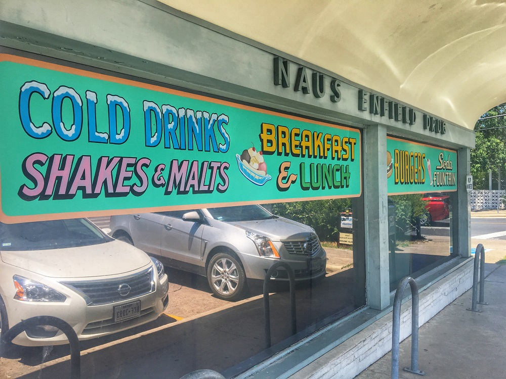 Nau's Enfield Drug Soda Fountain in Austin