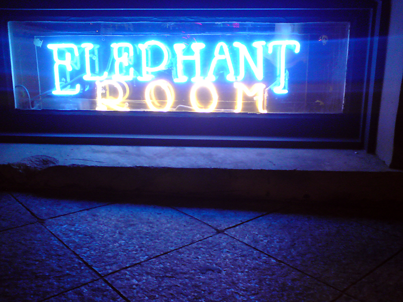 Elephant Room Austin Sign