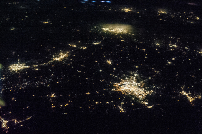 Light from Texas Cities by NASA