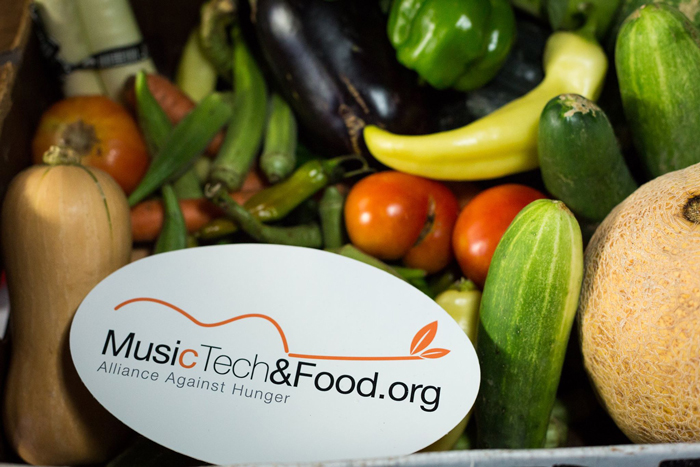 MusicTechandFood.org Vegetable Donations