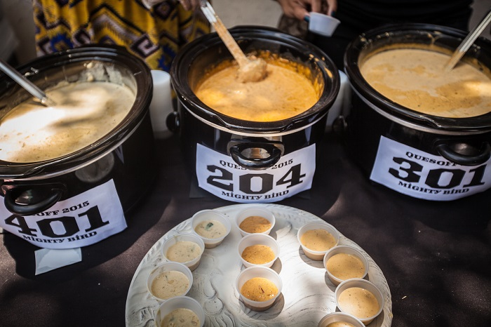 Mighty Bird Queso at Quesoff Austin Competition