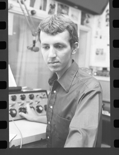 A young Aielli at the controls. Photo courtesy of KUT.