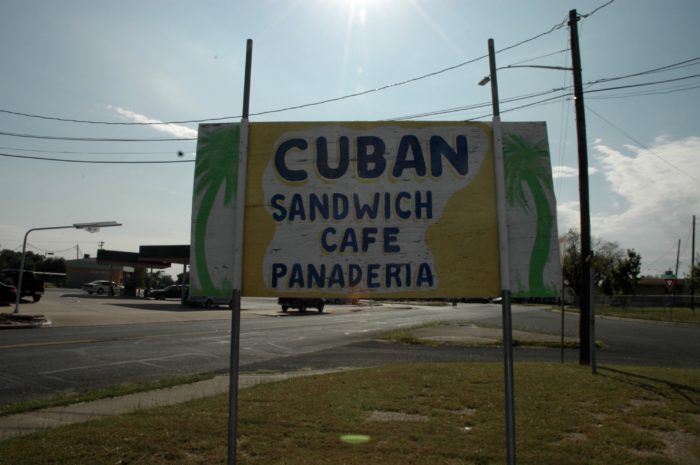 Cuban Sandwich Cafe Sign Austin