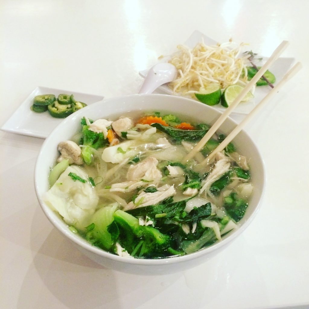Chicken and Veggie Pho at Pho Please in Austin