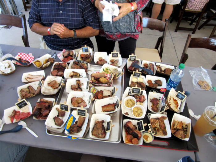 Meat Samples at TMBBQ Fest in Austin