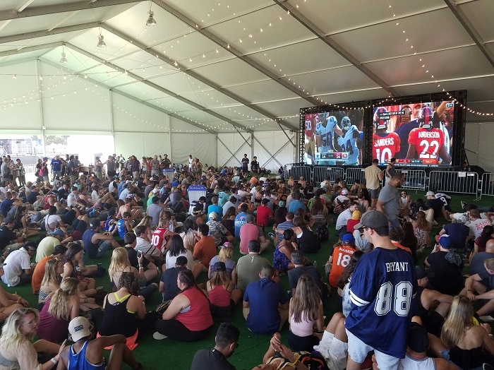 ACL Fest Football Tent