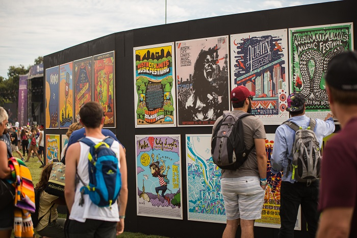 Poster Art Wall at ACL Fest
