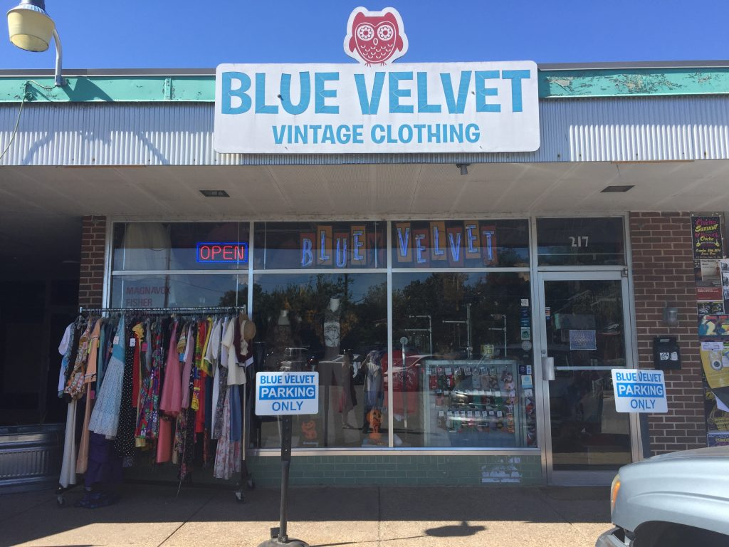 Blue Velvet thrift store in Austin