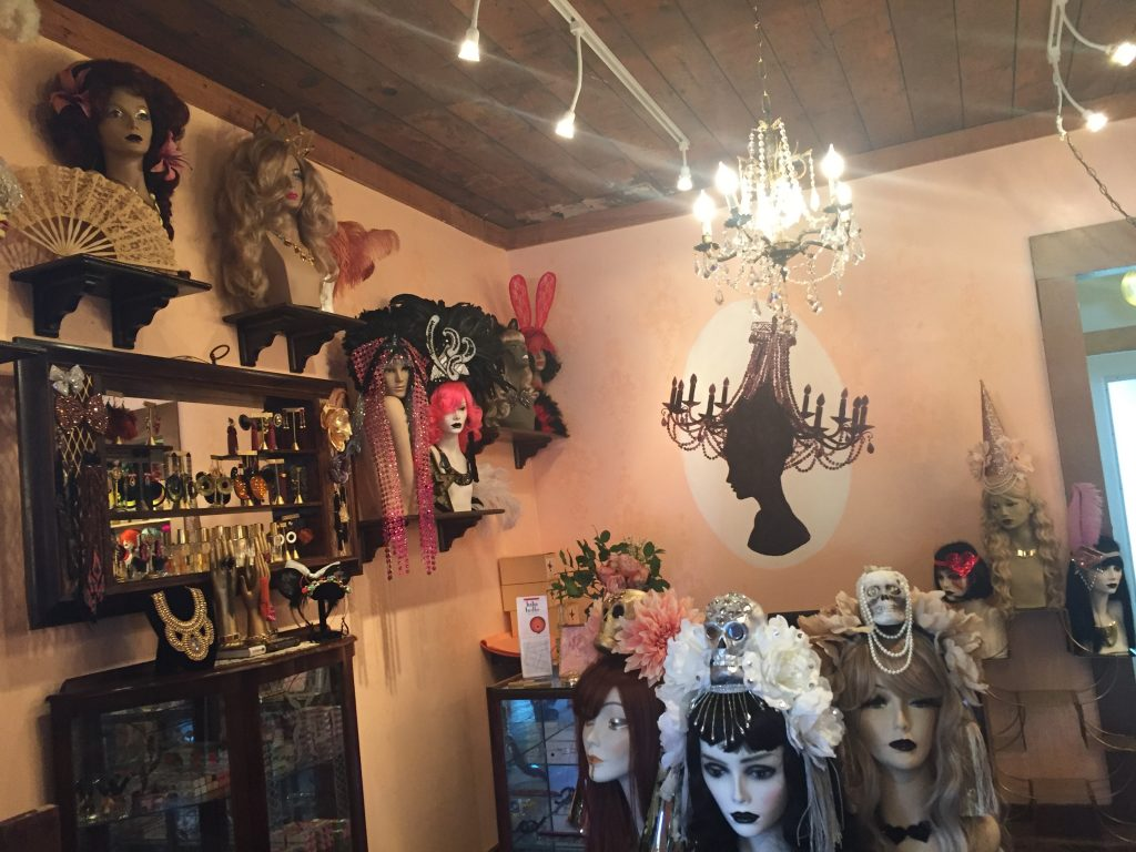Wigs and headpieces at Coco Coquette