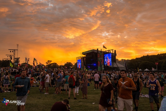 Zilker Park Sunset During ACL Fest