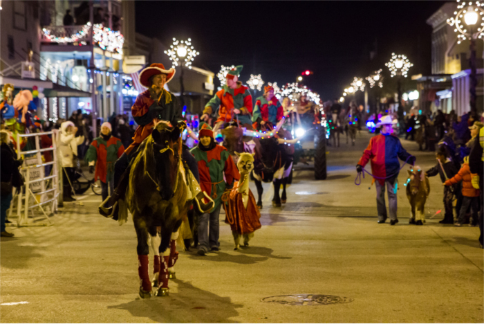 Bastrop Texas Lighted Christmas Parade