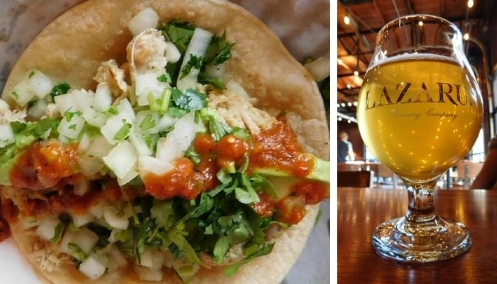 Lazarus Brewing Beer and Tacos