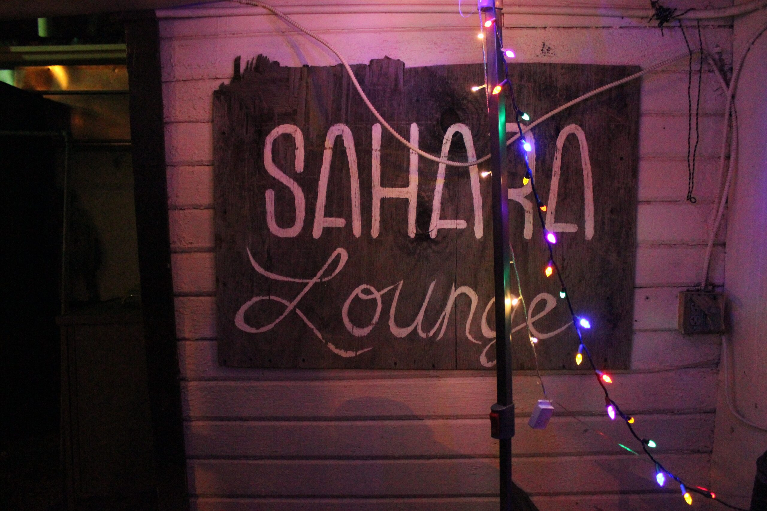 Sahara Lounge Sign