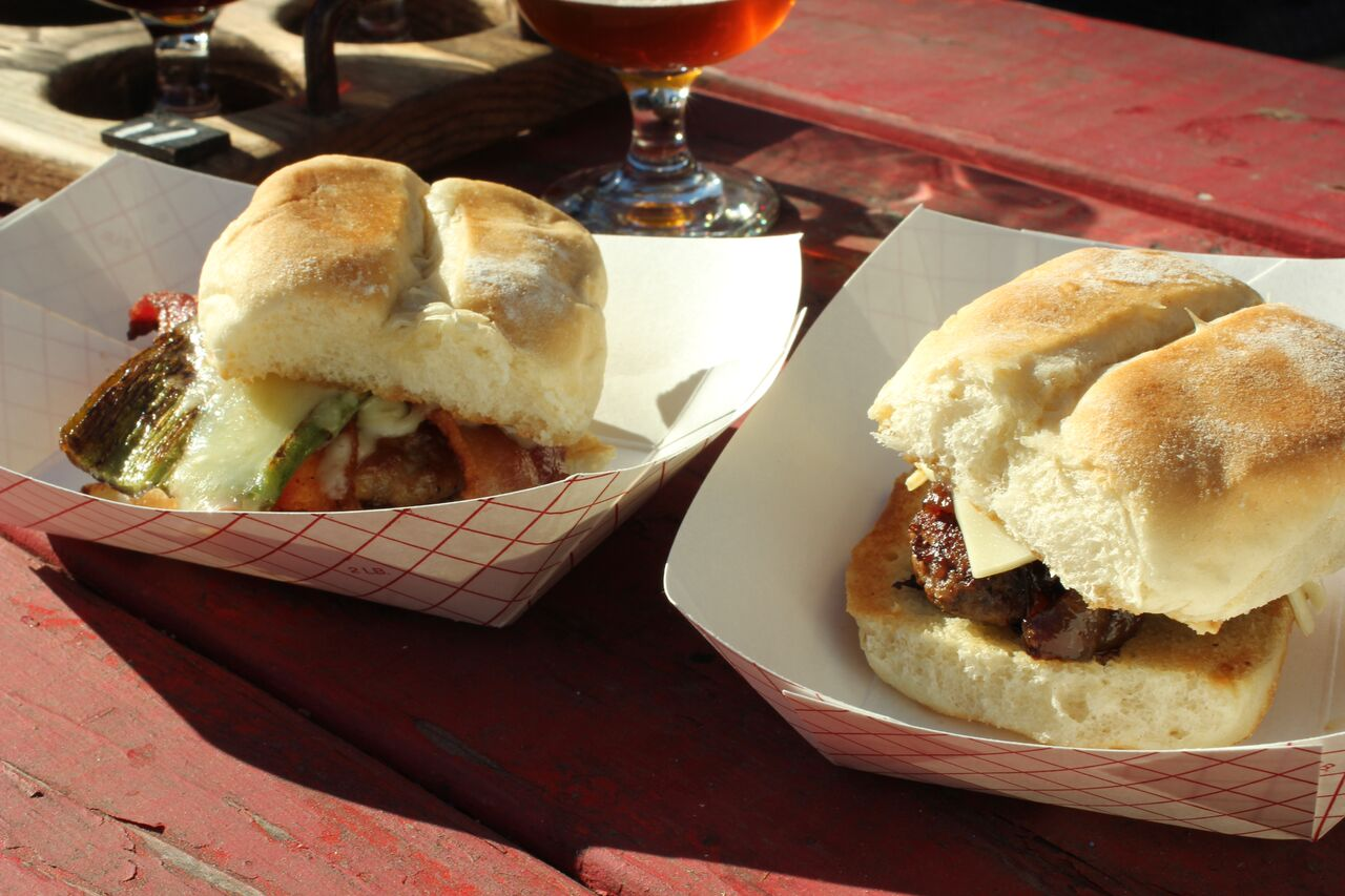 Sliders at Middleton Brewing in San Marcos