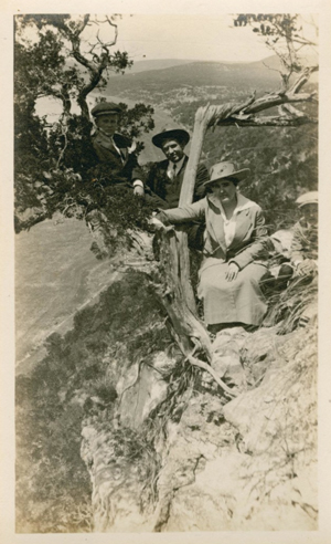 Campbells and John Barry Caldwell at Mount Bonnell