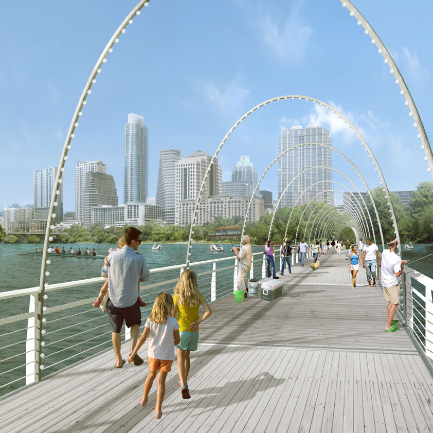Pontoon Bridge Rendering Austin