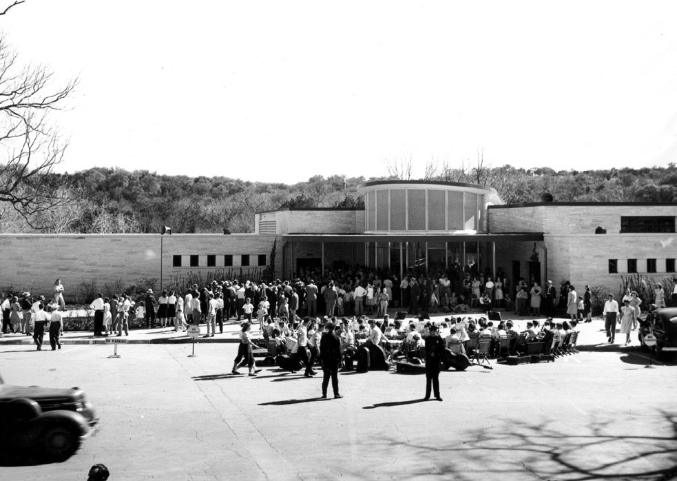 Barton Springs Bathhouse Dedication in 1947