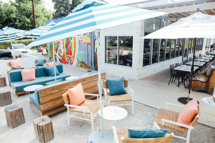 Launderette Patio for Happy Hour in Austin