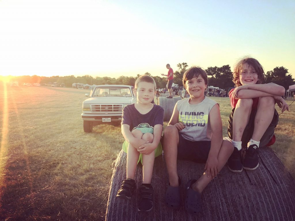 Kids at Farmgrass Fest