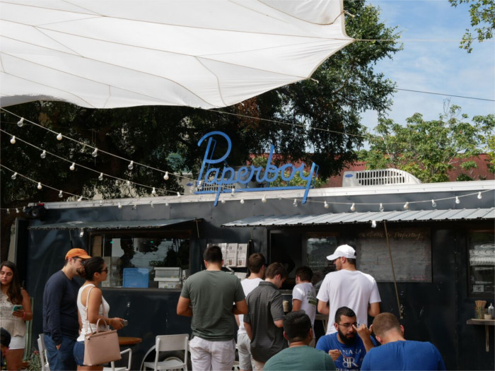 Paperboy Food Truck for Austin Brunch in East Austin
