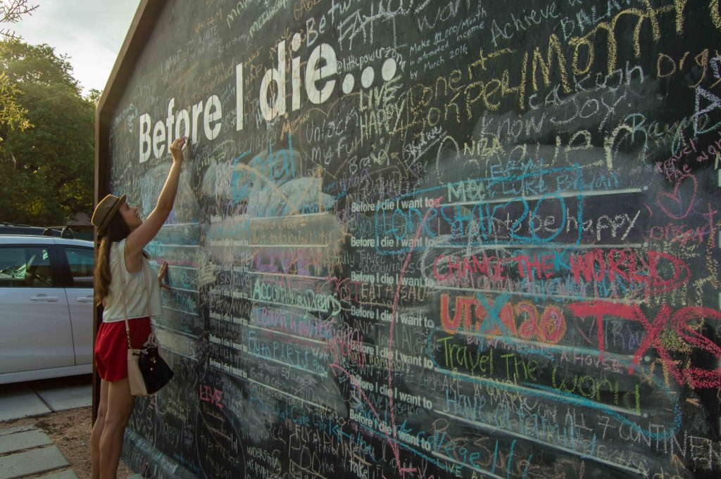 before I die wall in Austin