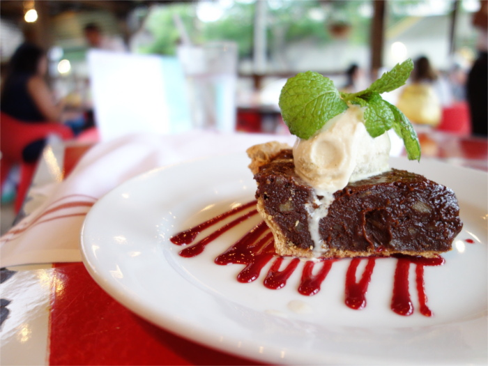 El Chile's chocolate pie with ice cream during Dining Out for Life