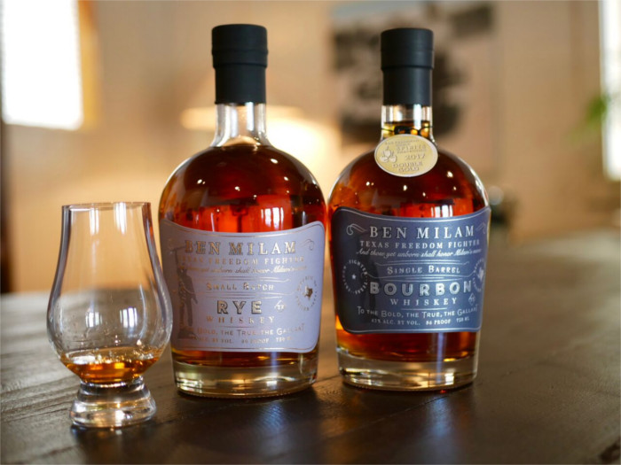 Ben Milam bourbon and rye whiskey