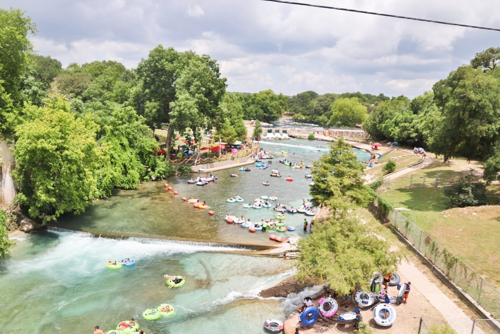 Floating the Comal River in New Braunfels, TX