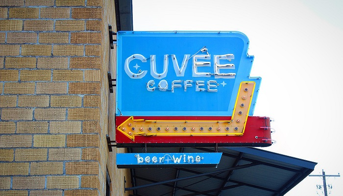 Tacos and coffee at Cuvee Coffee