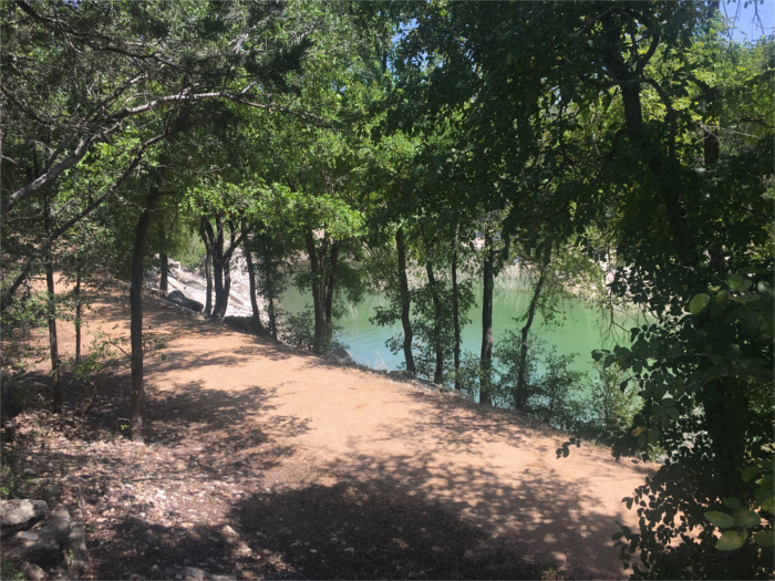 Hiking on Lake Travis at Jones Brother's Park