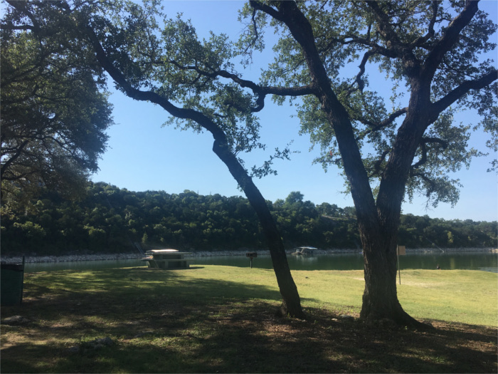 Shaded Picnic Area on Lake Travis