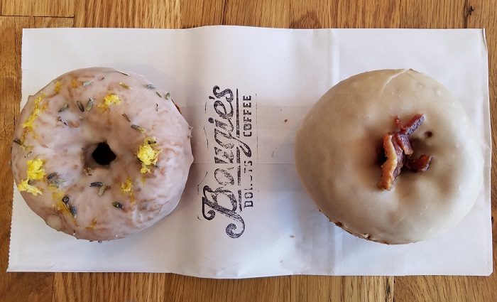 Lavender Lemon and Maple Bacon Donuts