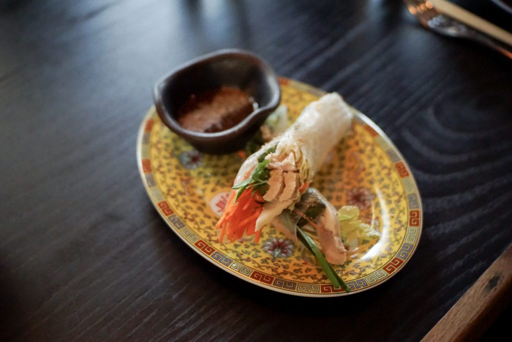 Khao Man Gai Spring Roll at Old Thousand