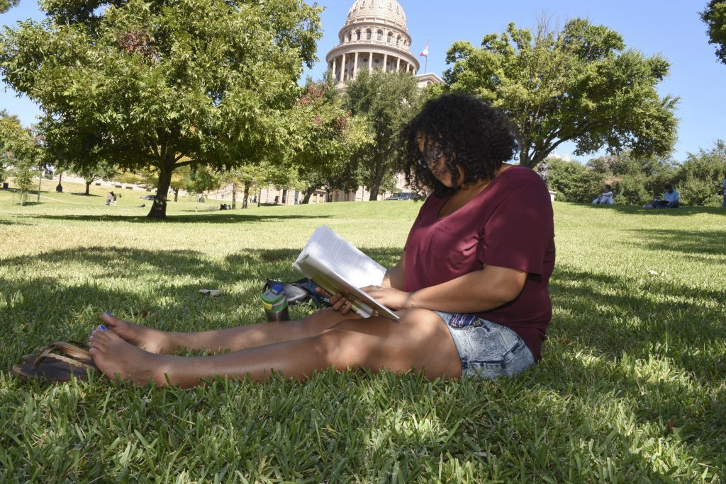 Woman Reading Texas Book Festival