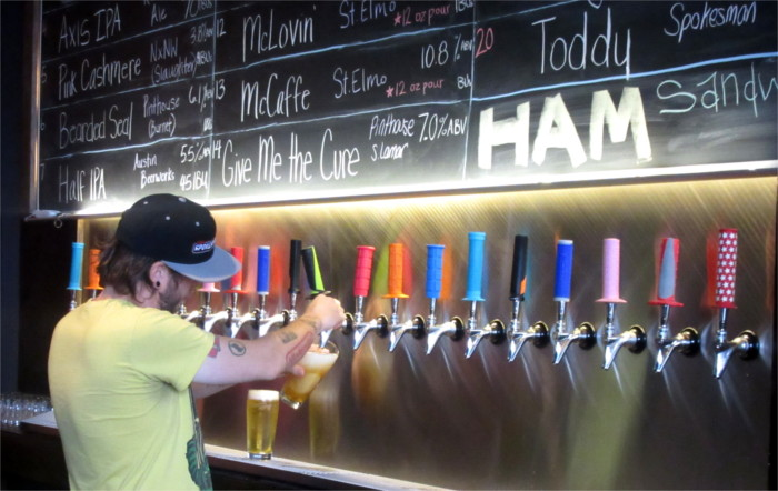 Spokesman Coffee Beer on Tap in Austin