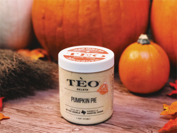 Pumpkin Pie Gelato at Teo