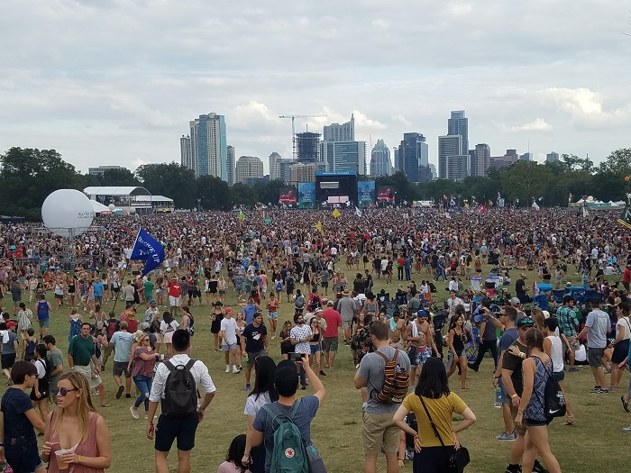 Zilker Park Midday Crowd During ACL Fest