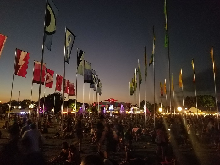ACL Fest Flags at Dusk