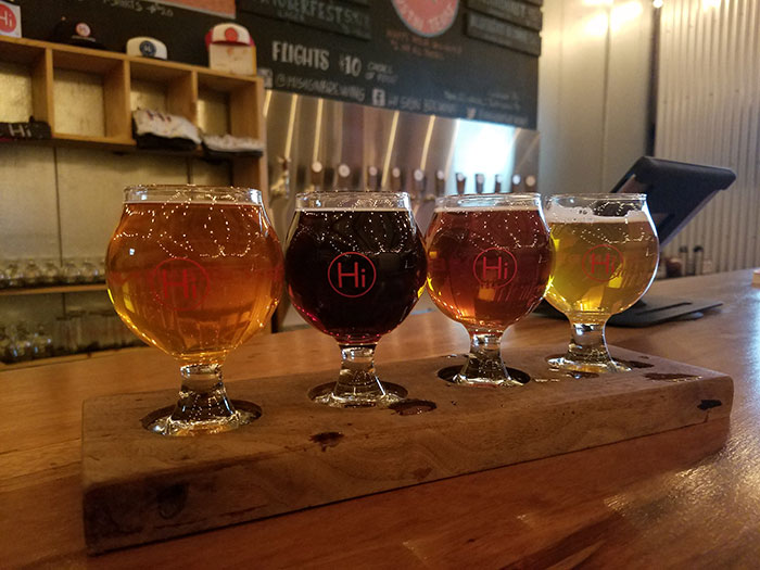 Hi Sign Brewing Beer Flight